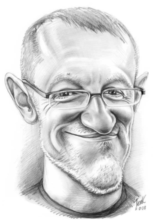 DIGITAL ONLINE Caricatures Black & white for order (Scanning image 40x50cm)
